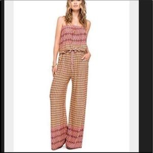 Skye's The Limit Strapless Boho Printed Jumpsuit